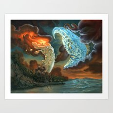Out brief candle Art Print