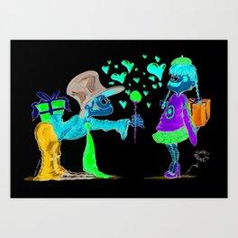 I love U Art Print