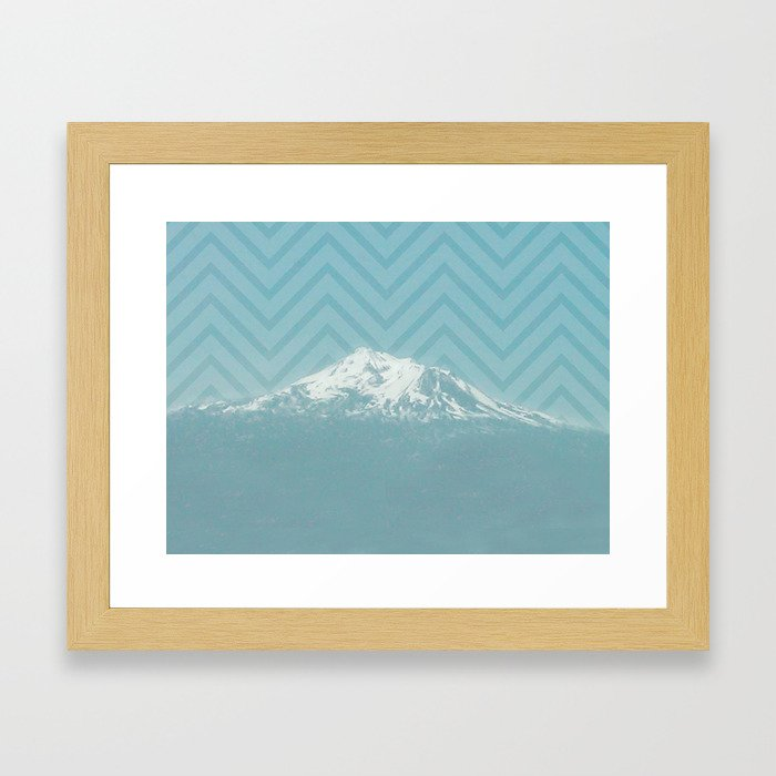 Portland Snowcaps Framed Art Print
