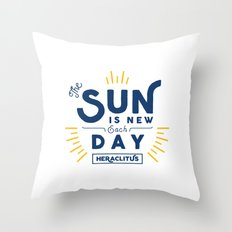Heraclitus - The sun is new each day Throw Pillow