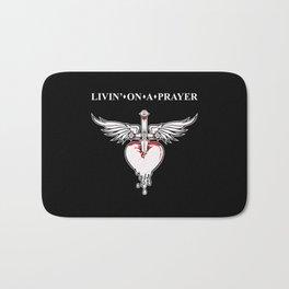 Livin' on a prayer. A rock and roll song. Bath Mat