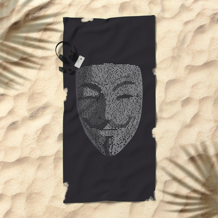 ...You May Call Me 'V' – So who's Anonymous? Beach Towel