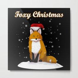 Fox Gift Metal Print
