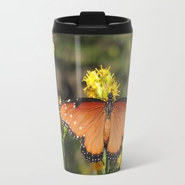 Queen Butterfly on Rubber Rabbitbrush in Claremont CA Travel Mug