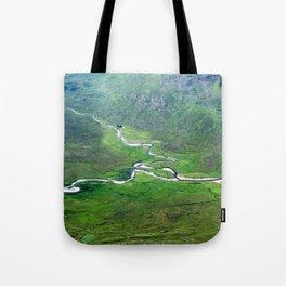 Highland Mountain Rivers Tote Bag