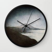 geology Wall Clocks featuring Mount Teide and dust by UtArt