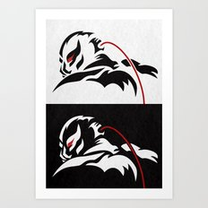 The Reckoning B/W Art Print