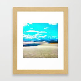 White Sands Framed Art Print