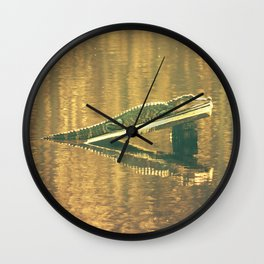 Alligator in the Afternoon Wall Clock