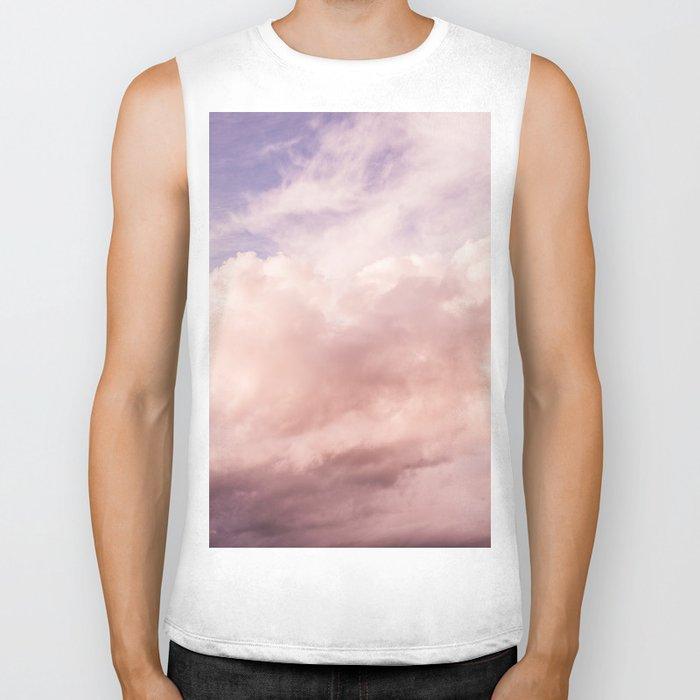 Perfect Pink Summer Sky Nature Photography Biker Tank
