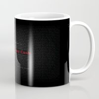 johnny cash Mugs featuring Hurt by Johnny Cash by Artworks by PabloZarate Inc.