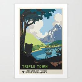 """""""A New Land"""" (Triple Town) Art Print"""