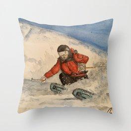 The Samurai of Free Skiing - Mike Douglas Throw Pillow