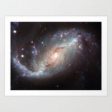 Barred spiral galaxy Art Print