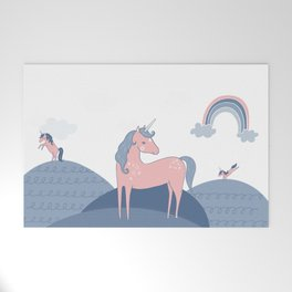 Unicorn hills Welcome Mat