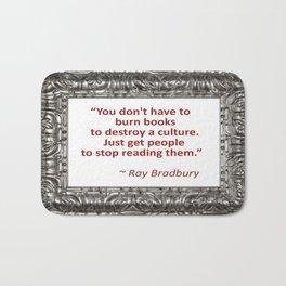 Burning Books - Ray Bradbury Bath Mat