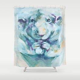 Green rat Shower Curtain