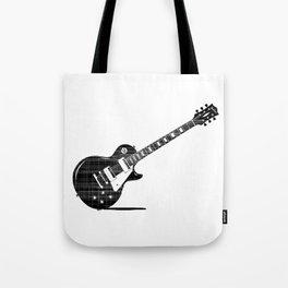 Black Guitar Tote Bag