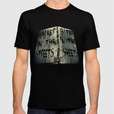 Walker in the Streets, Biter in the Sheets Black Mens Fitted Tee MEDIUM