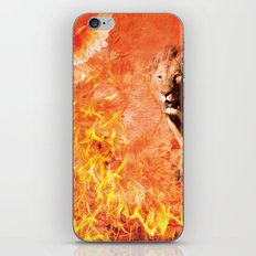 Lion Rescuing Cub from the Fire iPhone & iPod Skin