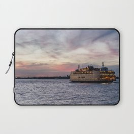 The Boat at Dusk - Staten Island Ferry Laptop Sleeve