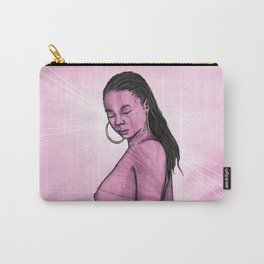 Tryna get God pregnant. (pink) Carry-All Pouch