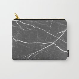 Gray marble abstract texture pattern Carry-All Pouch