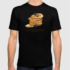 Fluffy Pancakes Mens Fitted Tee Black MEDIUM