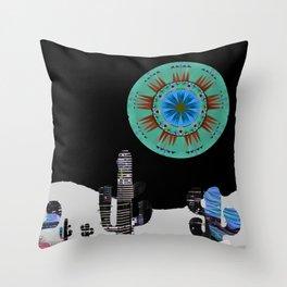 Cactus Moon City Serenade Throw Pillow