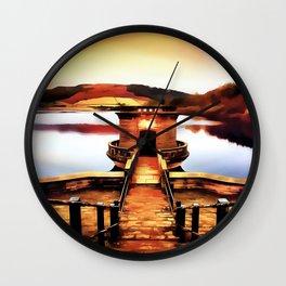 Ladybower Dam, Derbyshire (Painting) Wall Clock