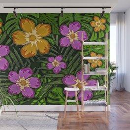 Tropical Botanicals Wall Mural