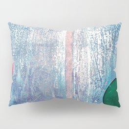 Metallic Face (Blue Version) Pillow Sham