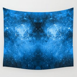 d20 Icosahedron Crystal Wind Wall Tapestry