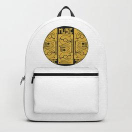Music Gramophone Circle Backpack