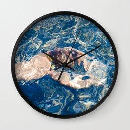 Underwater diffraction Wall Clock