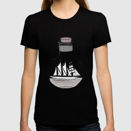 the ship in the bulb . illustration . T-shirt