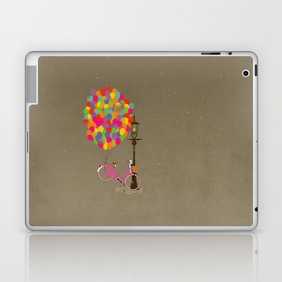 Love to Ride my Bike with Balloons even if it's not practical. Laptop & iPad Skin