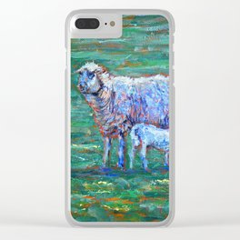 Ewe and lamb Clear iPhone Case
