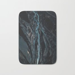 Abstract River in Iceland - Landscape Photography Bath Mat