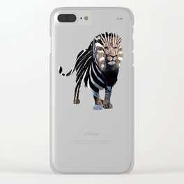 Lion spy II mission logo noir urban fashion culture Jacob's 1968 Paris Agency Clear iPhone Case