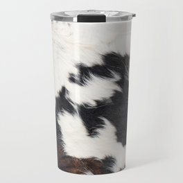 Brown Cowhide Travel Mug