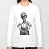woody allen Long Sleeve T-shirts featuring Woody Allen by MK-illustration