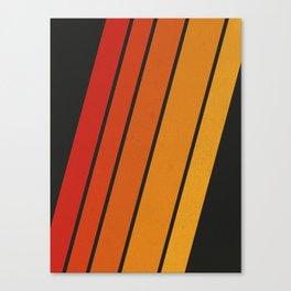 Retro 70s Stripes Canvas Print