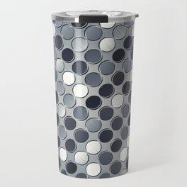 Metallic grid backdrop Travel Mug