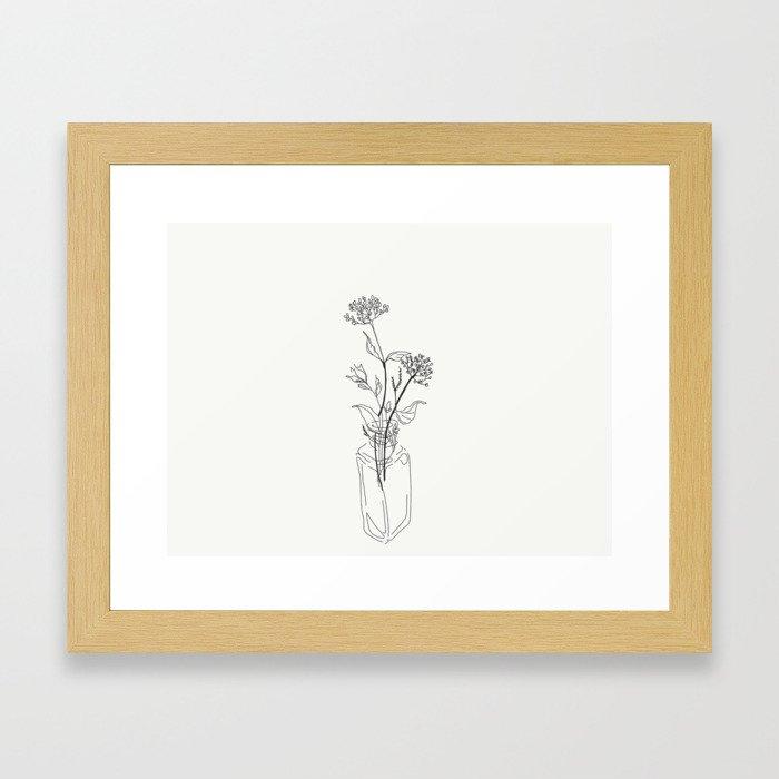 Vase of Flora Framed Art Print