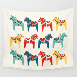 Swedish Horses Wall Tapestry