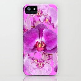 Ornate Pink & Purple  Butterfly Orchids iPhone Case