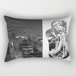 Tattoo and architecture of the city Rectangular Pillow