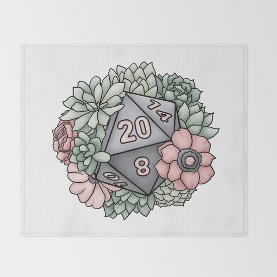 Succulent D20 Tabletop RPG Gaming Dice by sweetdelilahs