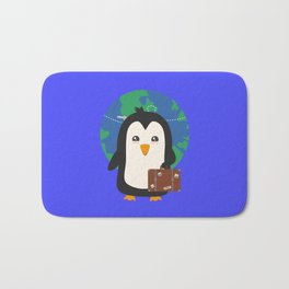 Penguin world traveler   Bath Mat